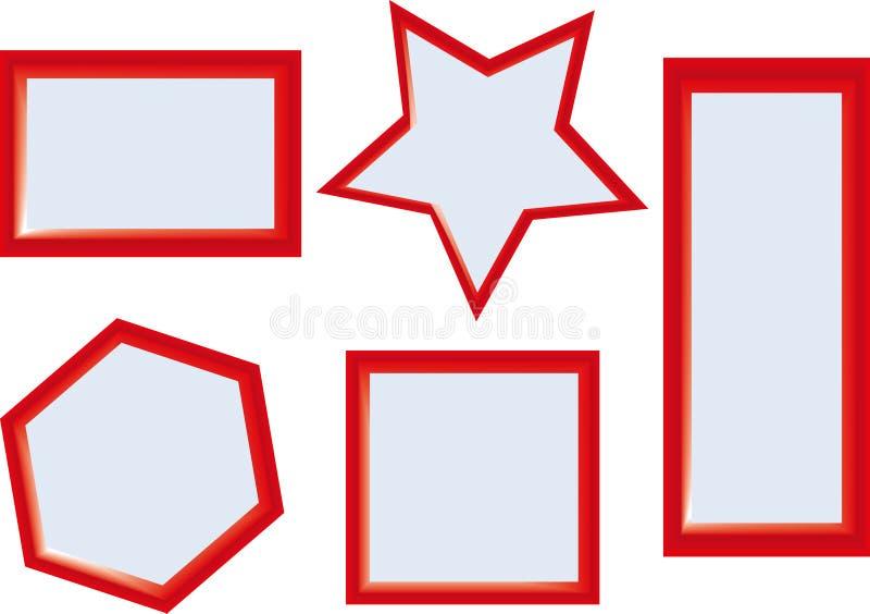 Het vierkante Rood van Randkaders stock fotografie