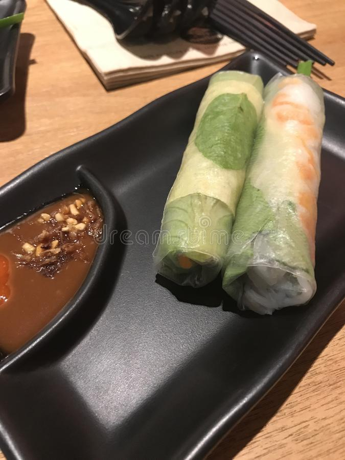 Het Vietnamese broodje van de rijstpapierlente royalty-vrije stock afbeelding