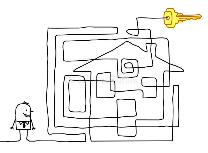 het vinden van de sleutel vector illustratie