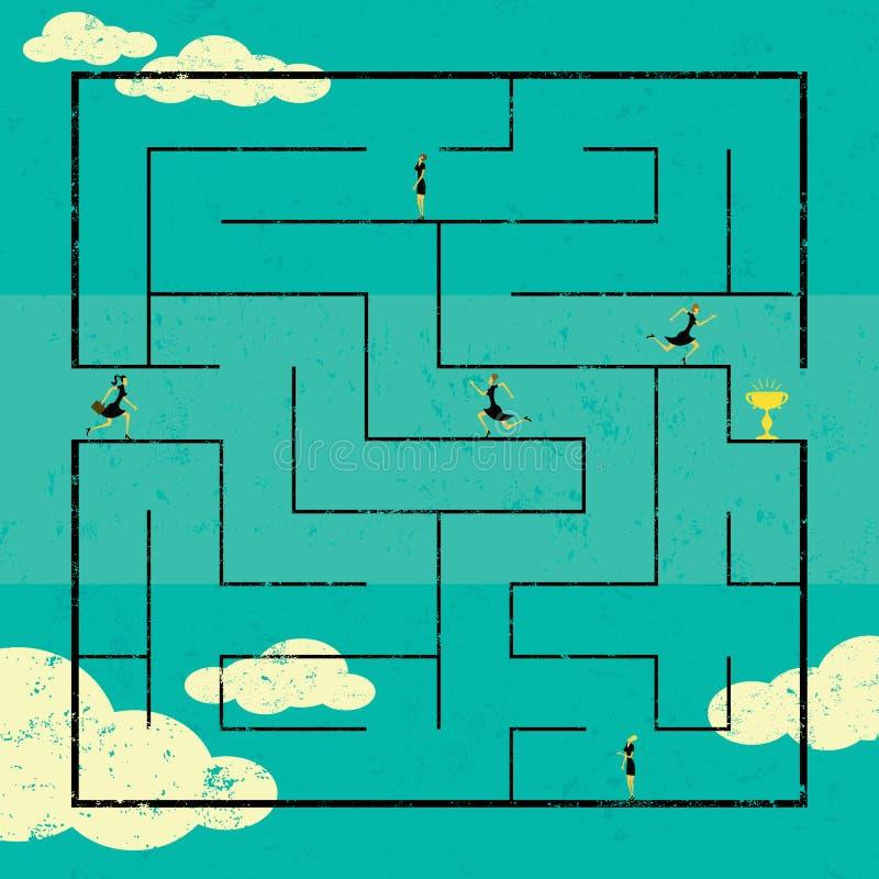 Het vinden van de Weg naar het succes stock illustratie