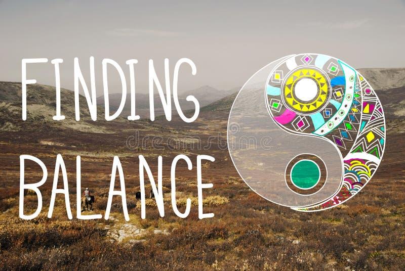 Het vinden van het Welzijnsconcept van Saldo yin-Yang stock fotografie