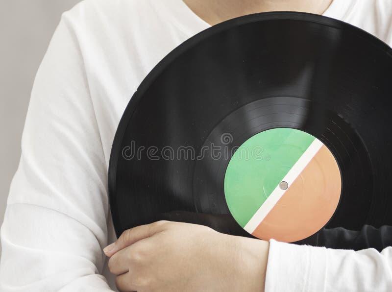 Het vinyl Analoge Audio Klassieke Uitstekende Concept van de Verslagrotatie stock afbeeldingen