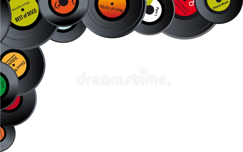 Het vinyl registreert grens vector illustratie