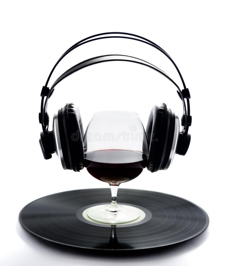 Het vinyl van de glaswijn royalty-vrije stock foto