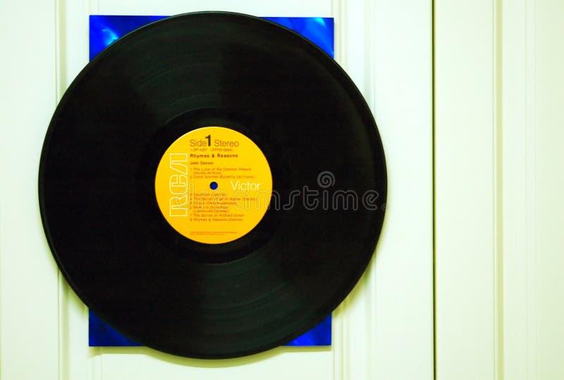 Het vinyl verslag van het L.P. stock afbeelding