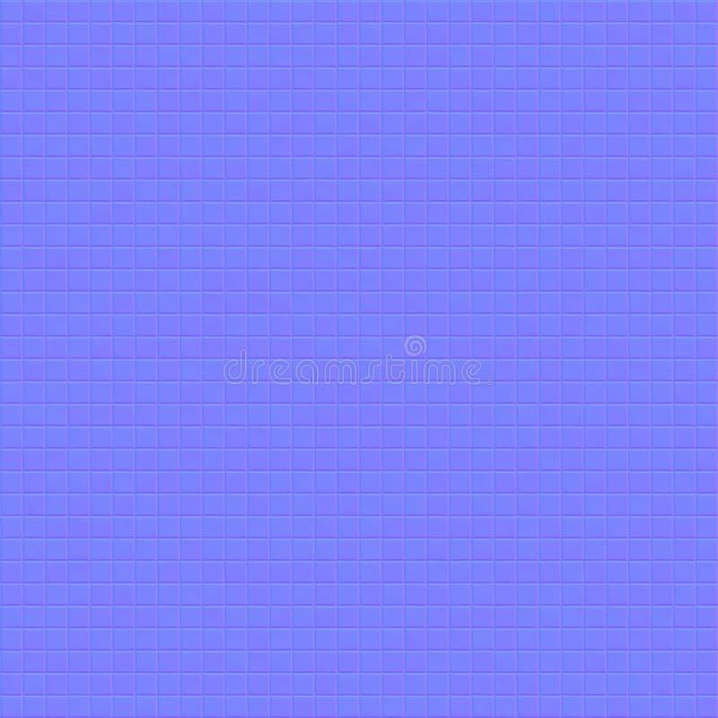 Het violette blauwe mozaïek is gevoerd met kleine vierkante stukken tegels stock illustratie