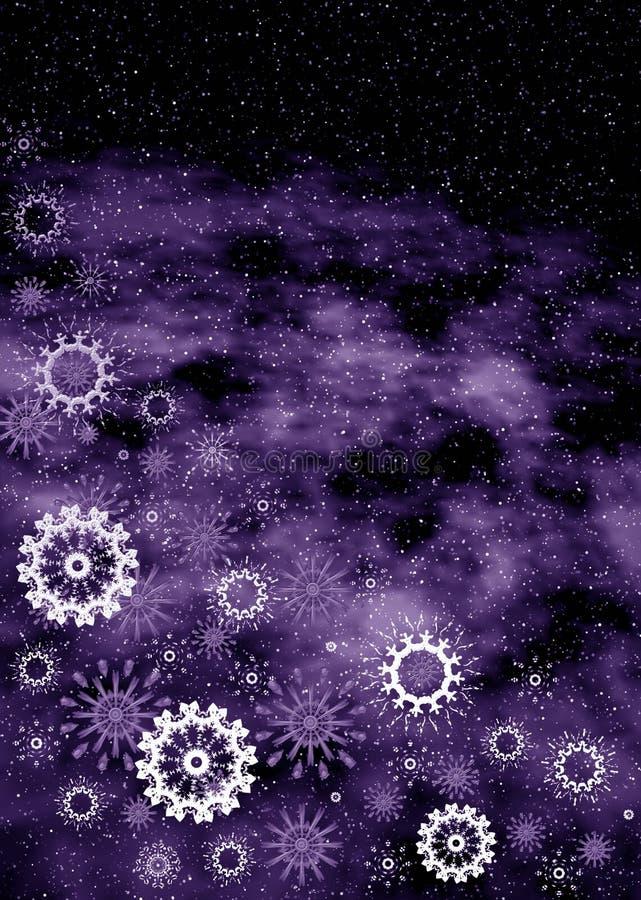 Het violette frame van Kerstmis royalty-vrije illustratie