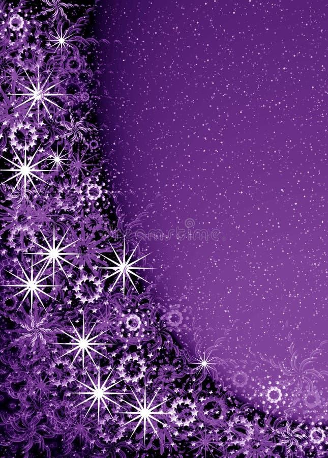 Het violette magische frame van Kerstmis vector illustratie