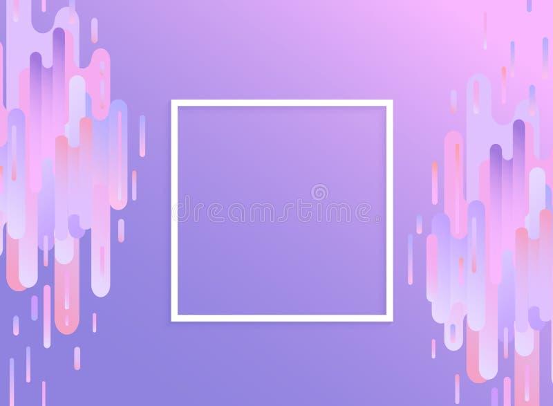 Het viooltje glitched achtergrond met exemplaarruimte - modern ontwerpmalplaatje in in kleur met het effect van de digitaal signa royalty-vrije illustratie