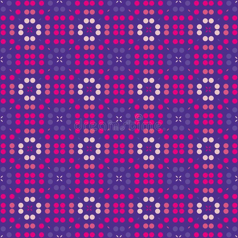 Het viooltje stippelde naadloos patroon Geometrische achtergrond in herhaling vector illustratie