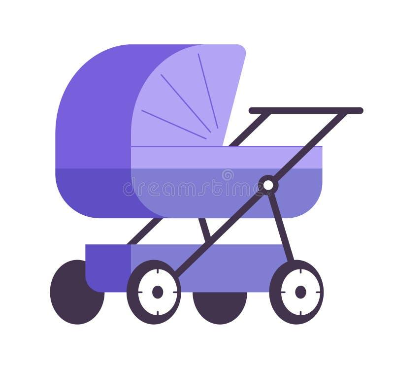 Het viooltje van de babywandelwagen royalty-vrije illustratie