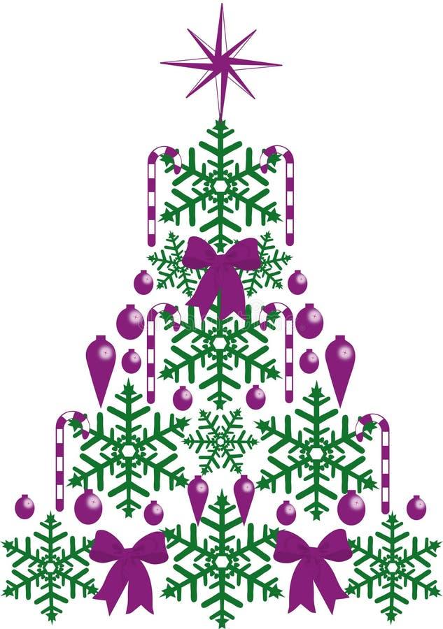 Het Viooltje van de kroonluchterkerstboom stock afbeelding