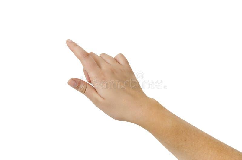 Het Virtuele Geïsoleerder Scherm van de Aanraking van de vinger royalty-vrije stock afbeelding