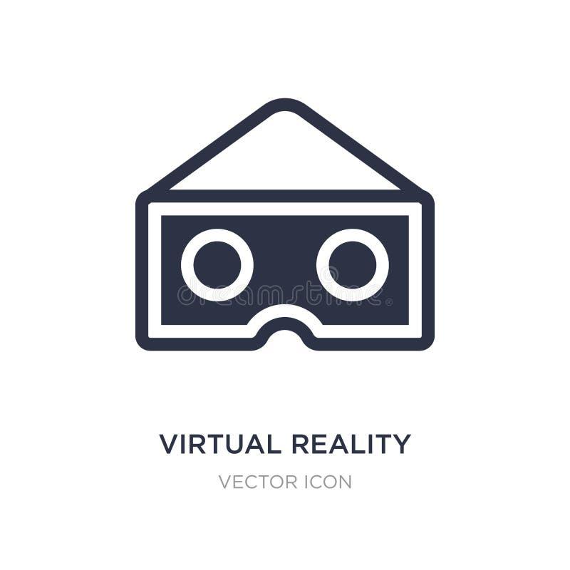 het virtuele pictogram van werkelijkheidsglazen op witte achtergrond Eenvoudige elementenillustratie van Vermaak en arcadeconcept stock illustratie