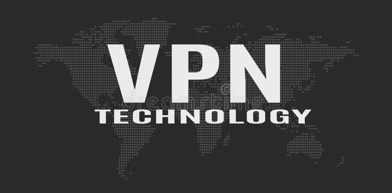 Het virtuele Privé Concept van het Netwerk royalty-vrije illustratie