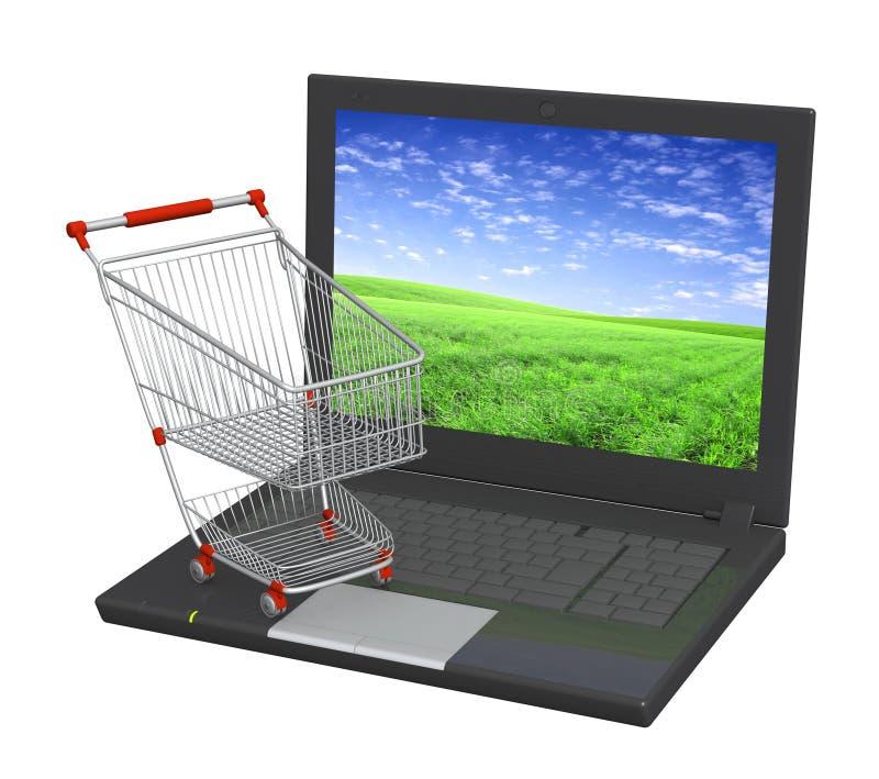 Het virtuele winkelen stock illustratie