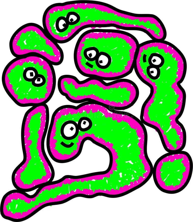 Het virus van de griep royalty-vrije illustratie