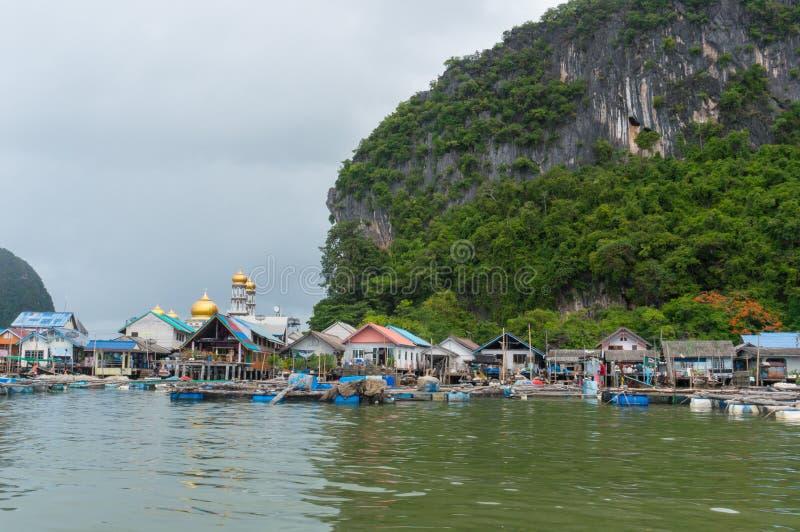 Het visserijdorp van Koh Panyee royalty-vrije stock foto's