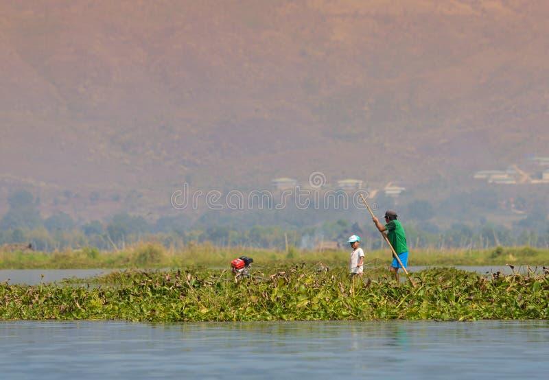 Het visserijleven in Myanmar stock fotografie