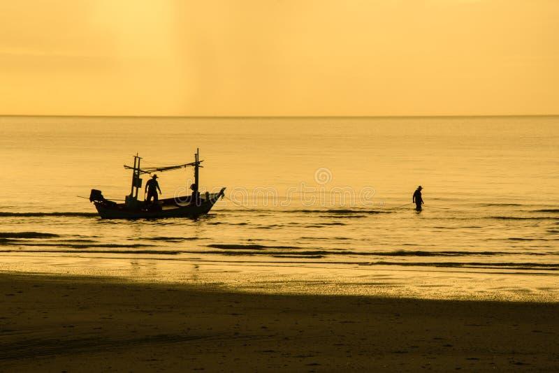 Het visserswerk royalty-vrije stock afbeeldingen