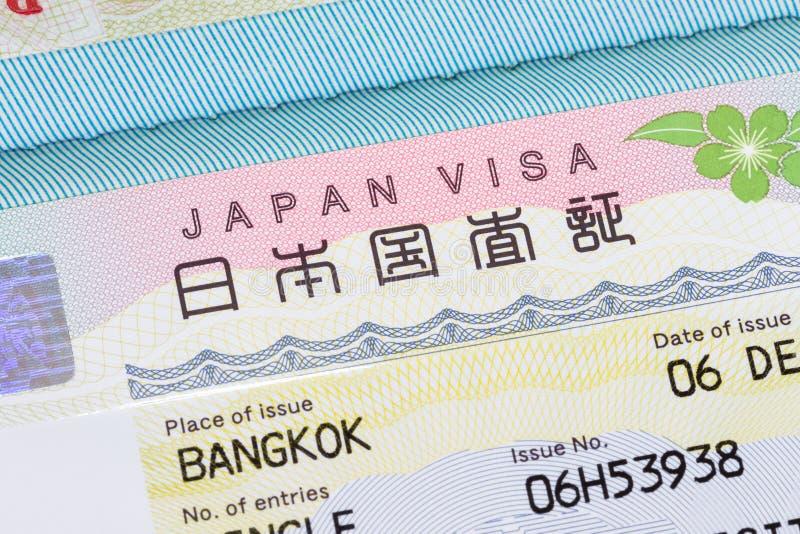 Het visum van Japan in paspoort royalty-vrije stock foto's