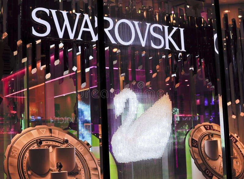 Het vlaggeschipopslag van Swarovski stock afbeelding