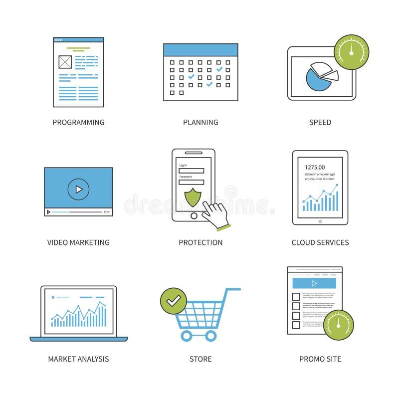 Het vlakke concept van de ontwerp moderne vectorillustratie voor vector illustratie