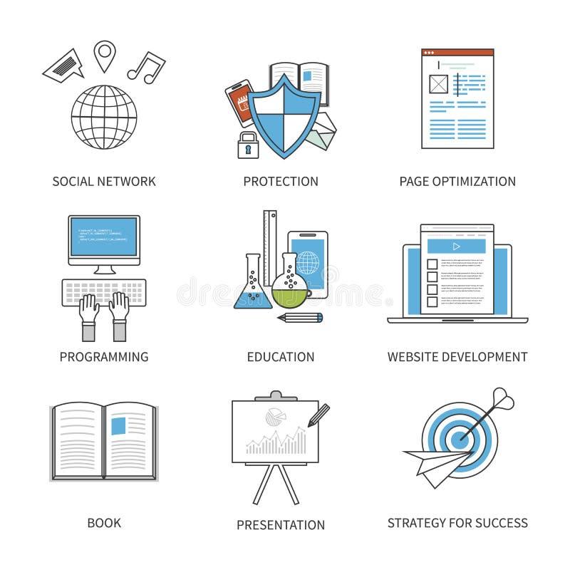 Het vlakke concept van de ontwerp moderne vectorillustratie voor stock illustratie