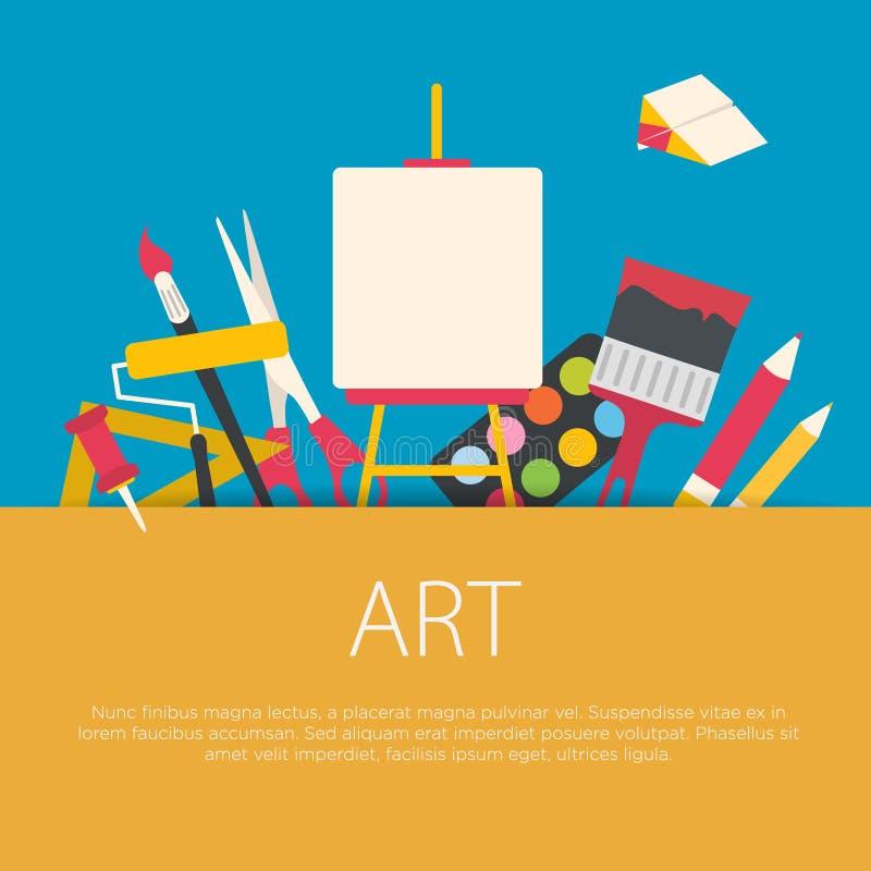 Het vlakke concept van de ontwerpkunst stock illustratie