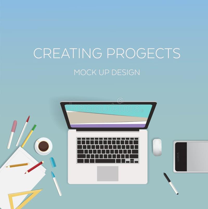 Het vlakke Concept van het Stijl Moderne Ontwerp Creatief royalty-vrije illustratie