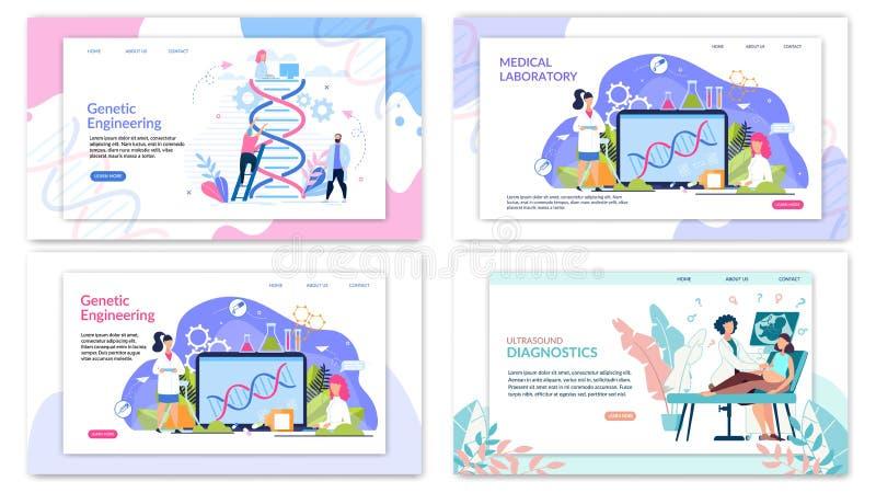 Het vlakke Heldere Vliegergenetische biologie Van letters voorzien royalty-vrije illustratie
