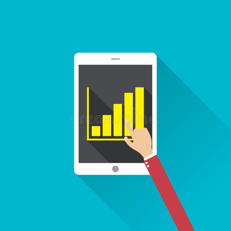 Het vlakke infographic concept van de ontwerp moderne vectorillustratie digitaal marketing media concept stock illustratie