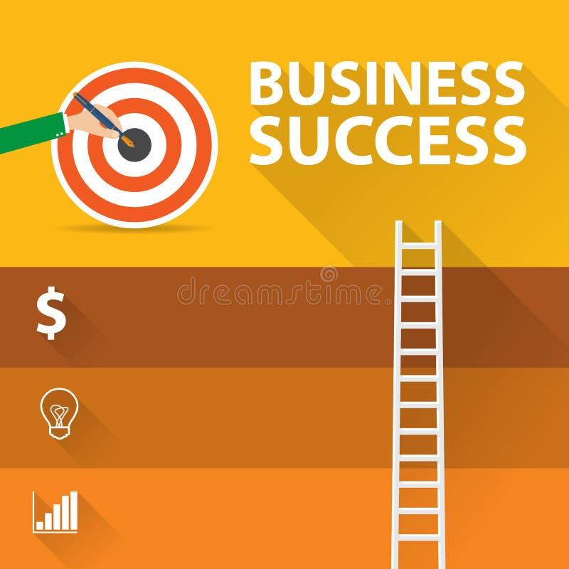 Het vlakke infographic concept van de ontwerp moderne vectorillustratie digitaal marketing media concept, Succes stock illustratie
