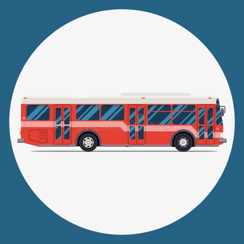 Het vlakke ontwerp van het buspictogram vectorstadsvervoer vector illustratie