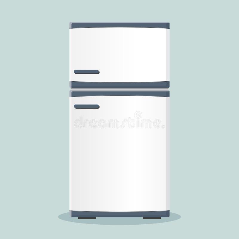 Het vlakke ontwerp van het koelkastpictogram vector illustratie