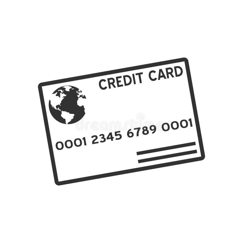 Het Vlakke Pictogram van het Creditcardoverzicht op Wit royalty-vrije illustratie