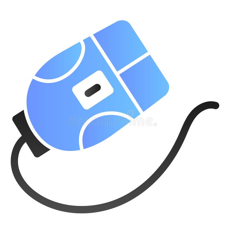 Het vlakke pictogram van de computermuis Klik kleurenpictogrammen in in vlakke stijl De stijlontwerp van de apparatengradi?nt, vo stock illustratie