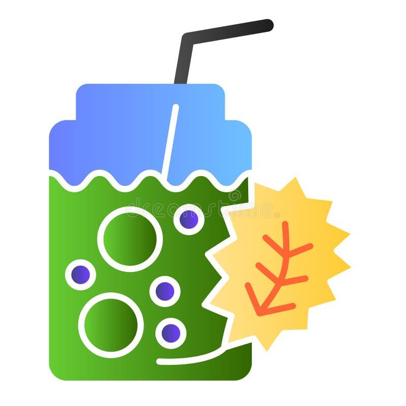 Het vlakke pictogram van de Detoxcocktail De verse pictogrammen van de drankkleur in in vlakke stijl Het gezonde de stijlontwerp  vector illustratie