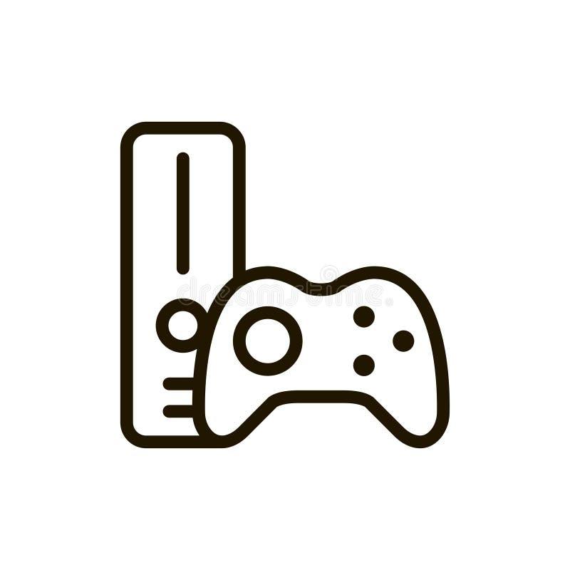 Het vlakke pictogram van de spelconsole stock illustratie