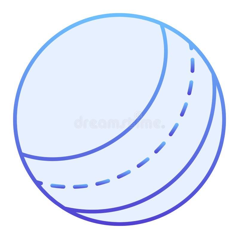 Het vlakke Pictogram van de strandbal Stuk speelgoed blauwe pictogrammen in in vlakke stijl Opblaasbaar die de stijlontwerp van d royalty-vrije illustratie