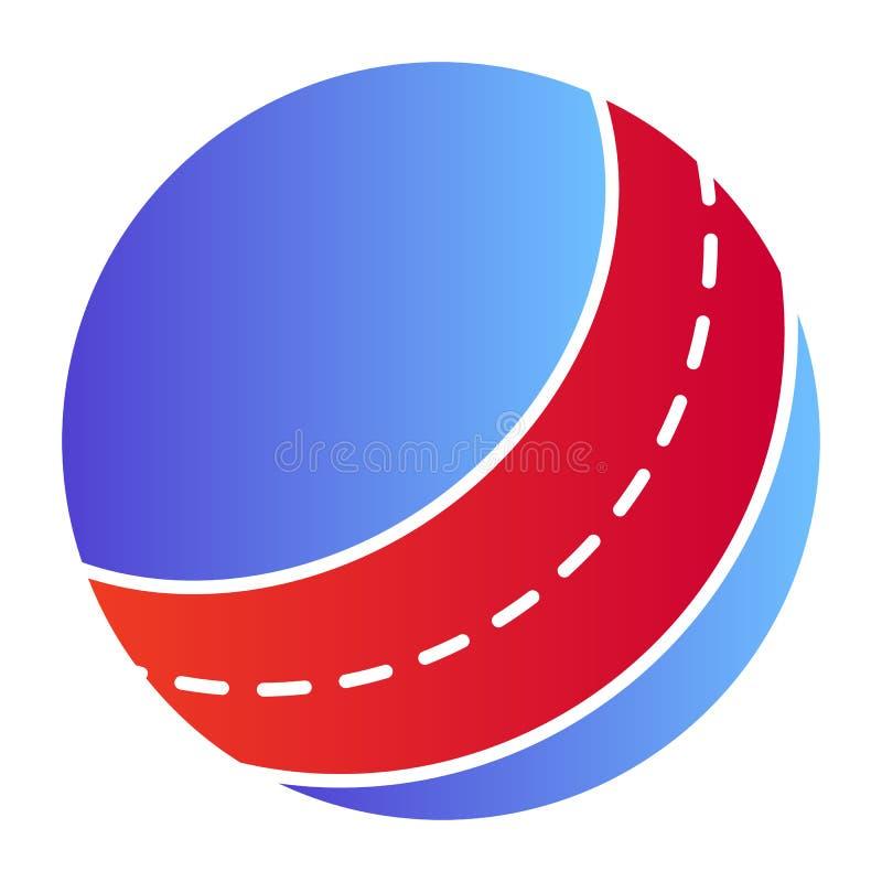 Het vlakke Pictogram van de strandbal Stuk speelgoed kleurenpictogrammen in in vlakke stijl Opblaasbaar die de stijlontwerp van d vector illustratie