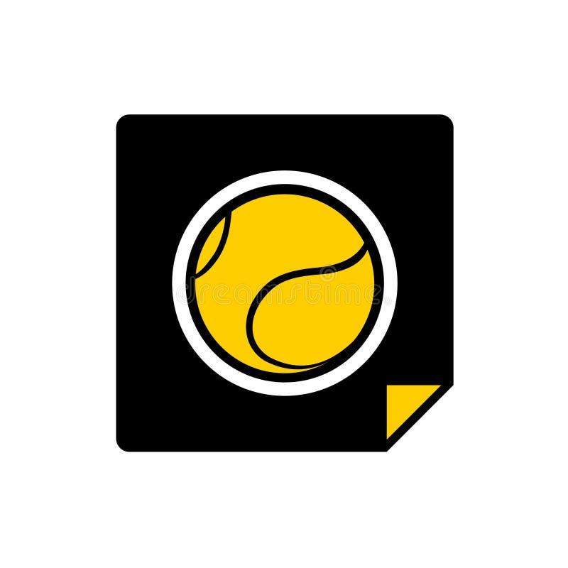Het vlakke pictogram van de tennisbal stock illustratie