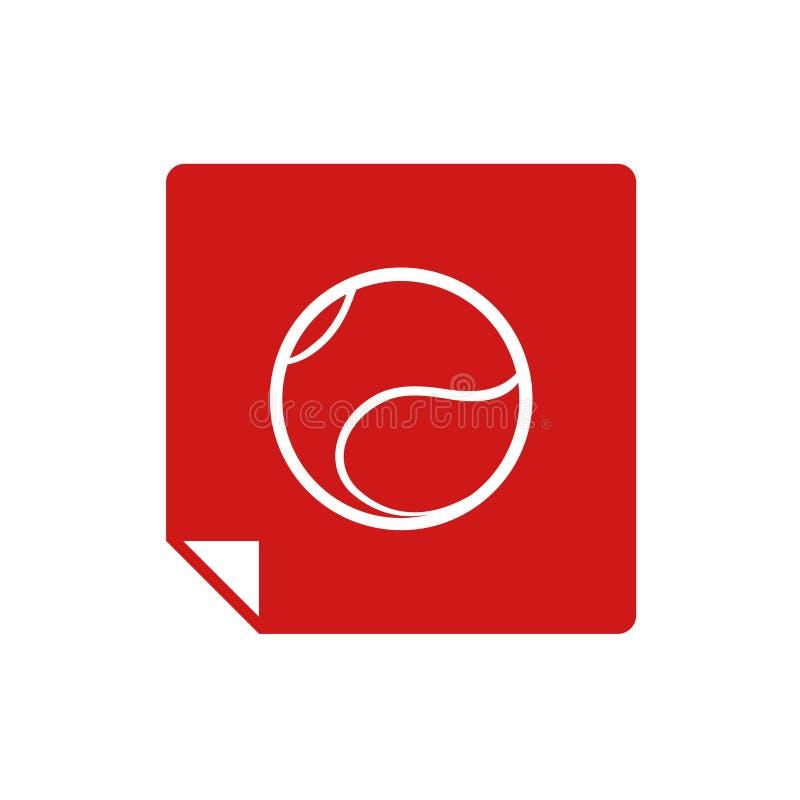Het vlakke pictogram van de tennisbal vector illustratie