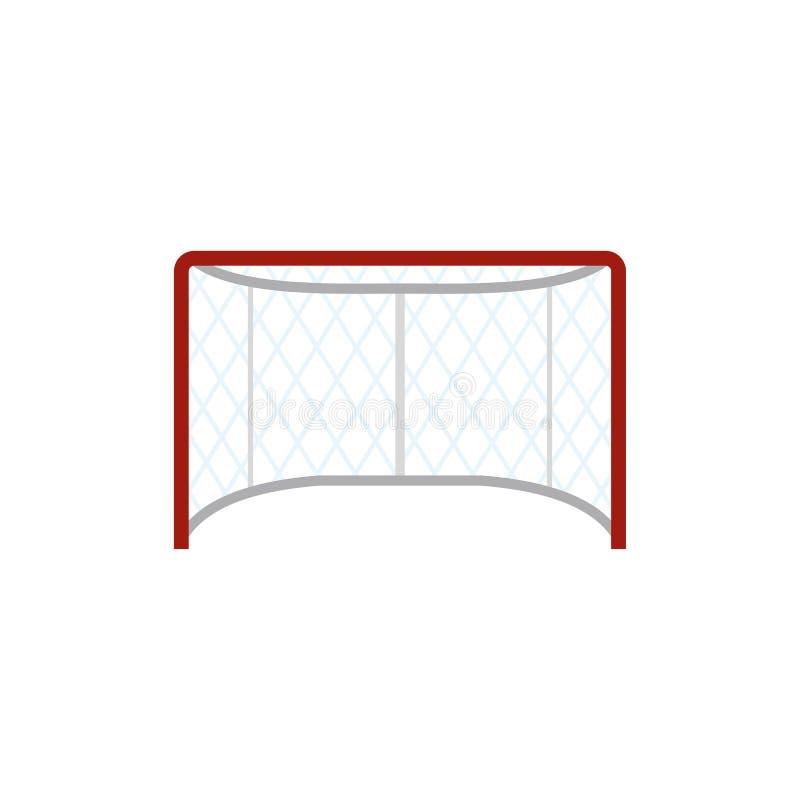Het vlakke pictogram van hockeypoorten stock illustratie