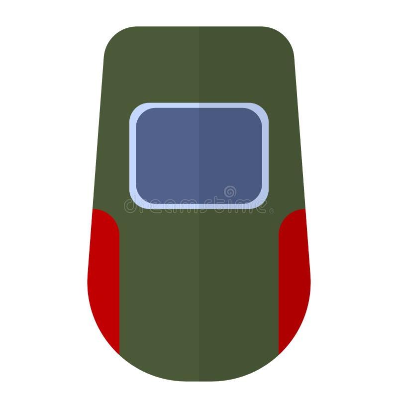 Het vlakke pictogram van het lassenmasker vector illustratie