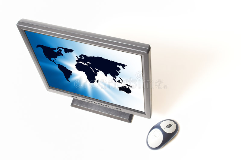 Het vlakke scherm stock afbeeldingen