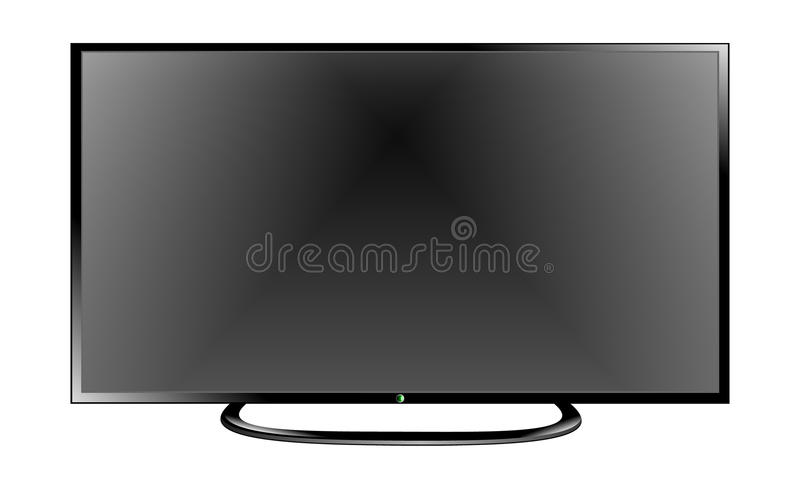 Het vlakke scherm lcd, plasma realistische vectorillustratie van TV vector illustratie