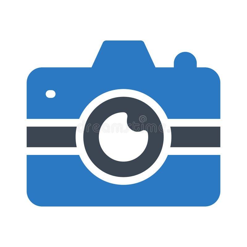 Het vlakke vectorpictogram van de camera glyph kleur vector illustratie