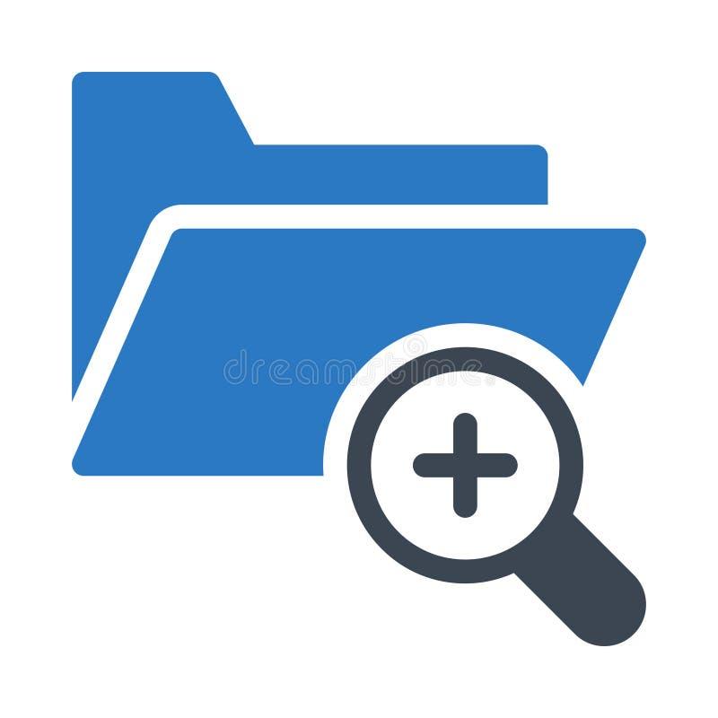 Het vlakke vectorpictogram van de folder glyph kleur vector illustratie