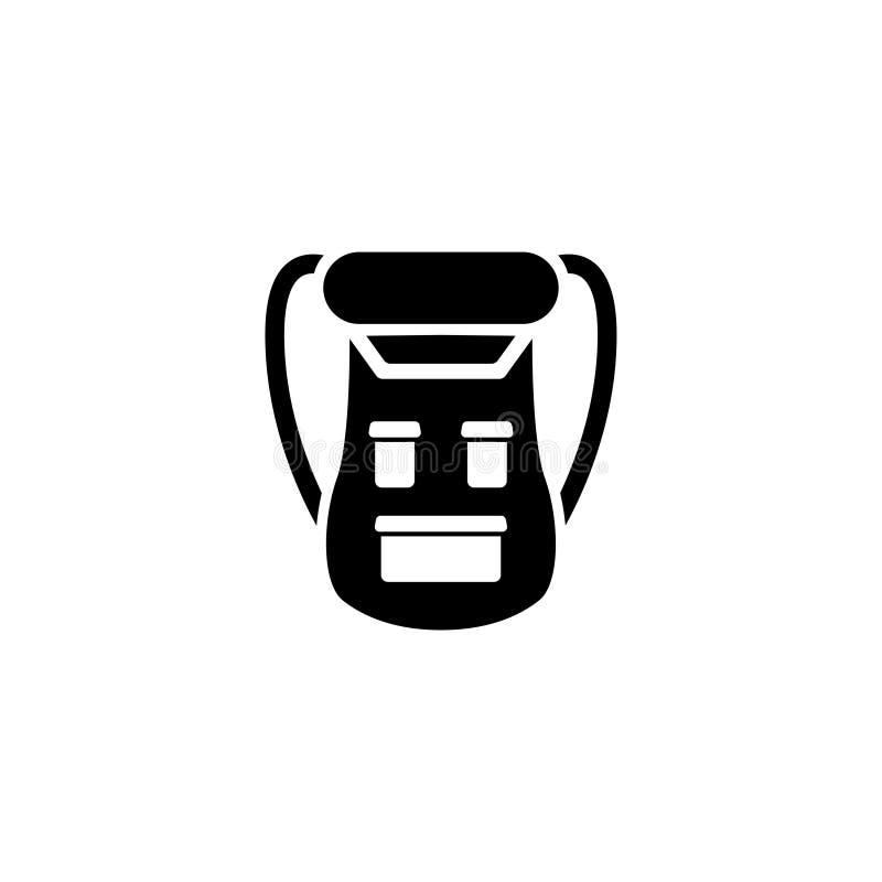 Het Vlakke Vectorpictogram van de sportrugzak stock illustratie
